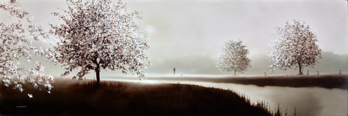 Springtime Meadow by john waterhouse -  sized 48x16 inches. Available from Whitewall Galleries